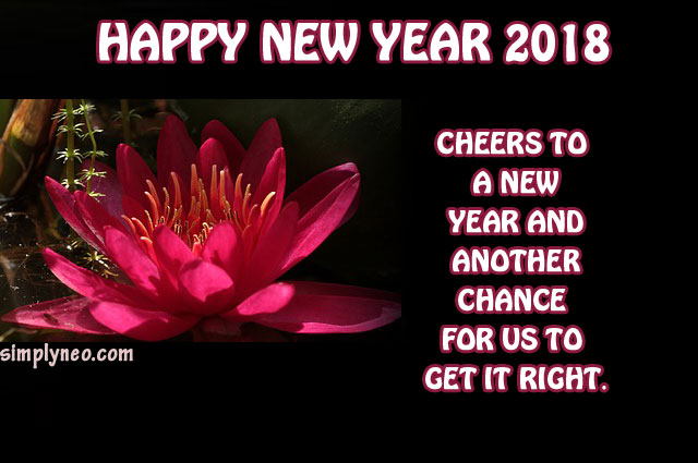 Cheers to a new year and another chance for us to get it right. – Oprah Winfrey